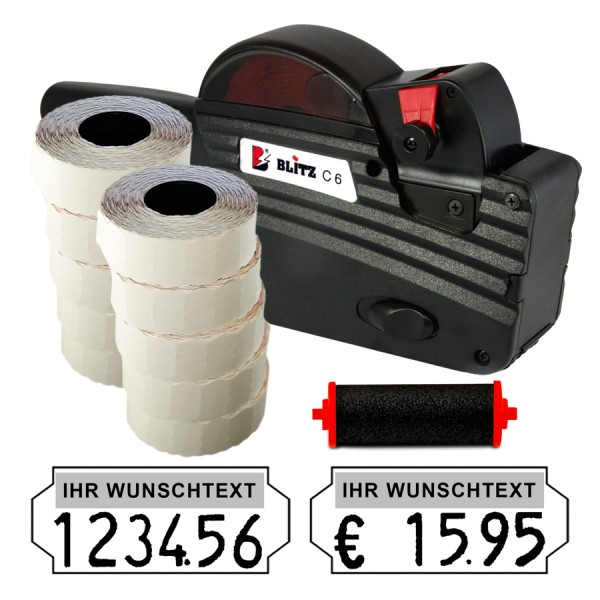 Blitz C6 Preisauszeichner, 6-Stellen, (Set 15.000 + 1 FR)